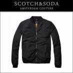 予約商品 4月頃入荷予定 スコッチアンドソーダ SCOTCH&SODA 正規販売店 メンズ アウタージャケット PUCKERING DETAILS BOMBER JACKET 136102 0008 BLACK