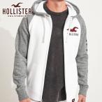 ショッピングホリスター ホリスター HOLLISTER 正規品 メンズ ジップアップパーカー Applique Logo Full-Zip Hoodie 322-226-0128-100
