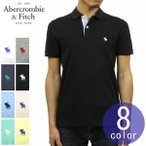 アバクロ Abercrombie&Fitch 正規品 メンズ ストレッチ ワンポイントロゴ 半袖ポロシャツ STRETCH ICON POLO