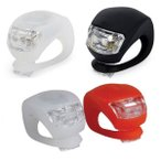 B013_TKG』 自転車LEDライトの2個セット 取付け簡単!設置場所自由!点灯長持ち!軽量なシリコン サイクリングライト