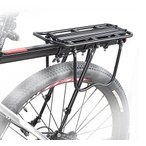 B035』 工具付き! 自転車荷台最大25Kg可・後付けリアキャリア、パニアバッグ対応!シートポストに取付け簡単!