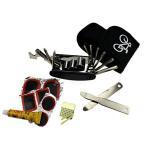 B038』自転車修理工具セットパンク修理 、安心な携帯マルチツール工具セット