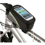 TKG_B083』 自転車フレームバッグ、トップチューブバッグ、スマホ タッチパネル付きスマートフォンで地図を表示して、サイクリング走行に便利