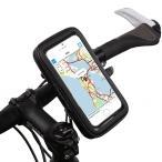 B092_TKG』iPhone6/GalaxyS等対応スマホ ホルダー、自転車やバイクにマウント、Lサイズ(4.7インチ)、取付簡単、工具不要!防水仕様