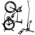 簡単便利な B109 自転車スタンド ロード・MTB・一般自転車 縦置き横置き両方可能 組立て楽 スリムなデザイン スペース節約、日本語取り扱い説明書付き