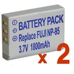 Yahoo!MIXY4TKG』【2個セット】 Fuji NP-95 富士フィルム互換バッテリーのお得な2個セット