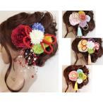 【7点セット】赤&ピンク&紫・髪飾り・ヘッドドレス・成人式・卒業式・結婚式・パーディー・和婚