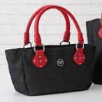 SAVOY サボイ デニムヨコ型手提げバッグ / 40代 50代 60代 70代 ファッション シニア ミセス レディース 婦人 バッグ 鞄 かばん