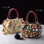 バッグ レディース / ボタン柄ジャカード2WAYバッグ / 40代 50代 60代 70代 ミセスファッション シニアファッション かばん 鞄