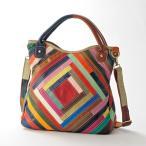 エスタシオン マルチカラーパッチワーク2Wayバッグ / 40代 50代 60代 70代 ファッション シニア ミセス レディース バッグ 鞄