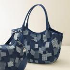 サボイ  パッチワーク風ラインストーンスタッズ使いバッグ SAVOY / 50代 60代 70代 80代 ファッション シニア ミセス 婦人