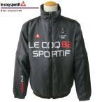 ルコック ゴルフウエア 中綿ジャケット 袖脱着式 QG6370 N151 ブラック Mサイズ le coq sportif 送料無料 30%OFF