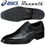 ショッピングウォーキングシューズ アシックス ウォーキングシューズ 4E ランウォーク Runwalk WR416S 90 ブラック 送料無料