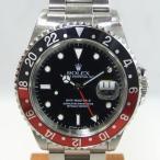 「質屋出店」「当店保証3年付」ロレックス GMTマスターII 16710 メンズ 時計「中古」