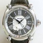 「質屋出店」「当店保証1年付」セイコー ガランテ スプリングドライブ SBLA073 5R66-0AC1 GMT メンズ 時計「中古」