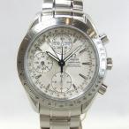 「質屋出店」「当店保証1年付」オメガ スピードマスター トリプルカレンダー 3221.30 メンズ 時計「中古」