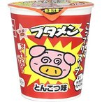 ブタメン とんこつラーメン味 即席カップ麺【おやつカンパニー】15個入り1BOX