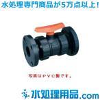 エスロン ボールバルブ フランジ式 PVC製 Oリング材質:EPDM 80A BVF80