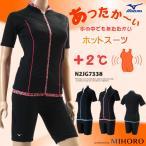 レディース フィットネス水着 袖付きセパレート ミズノ N2JG7338