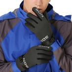 手袋 メンズ 防寒 革 紳士用 スポーツ スノー 滑り止め 釣り 登山 撥水 冷えとり 冬 雪遊び グリーン 自転車 防寒 男性用 バイク 裏起毛 スキー ベルト調整可