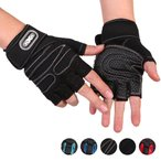 サイクリンググローブ 手袋 メンズ スポーツ アウトドア ハーフフィンガーグローブ 5本指 滑り止め付き クッション性 調節可能