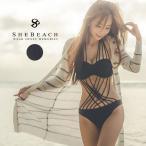 水着2018 レディース モノキニ オールインワン 大人 リゾートワンピース 韓国 ファッション SHEBEACH 正規品 セクシー ドレッシー
