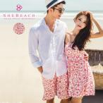 リゾートワンピ 花柄 レディース オフショル 半袖 大人 韓国ファッションブランド SHEBEACH正規品 ハイビスカス