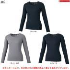 MIZUNO(ミズノ)ブレスサーモ Tシャツ クルーネック(32MA1850)BREATH THERMO スポーツ アウトドア インナー 防寒 長袖 発熱素材 レディース