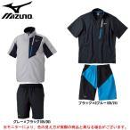 MIZUNO(ミズノ)ムーヴクロスシャツ(半袖) パンツ(ハーフ) 上下セット(32MC5130/32MD5130)スポーツ メンズ