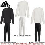 adidas(アディダス)ID ビッグリニアロゴ クルーネックスウェット パンツ 上下セット(FAT31/FAT33)スポーツ 裏起毛 トレーナー メンズ