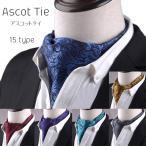 アスコットタイ スカーフ メンズ ビジネス 新生活 お洒落 紳士 結婚式 アスコットスカーフ フォーマル ペイズリー柄 洗える 代引不可