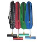 ゲートボールスティックセット 伸縮タイプ ケース付き45×200ジュラルミンヘッド・丸ゴムグリップ回転式スライド型シャフト