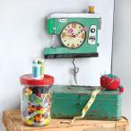 アレンデザイン振り子時計 Stitch Sewing Machine Clock ミシンとはさみ  掛け時計 Allen Designs