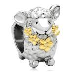 Yahoo! Yahoo!ショッピング(ヤフー ショッピング)チャーム ブレスレット バングル用 CharmSStory チャームズストーリー Cute Sheep Flower Wreath Animal Charm Beads Charmss For Bracelets