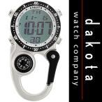 Dakota ダコタ  Watch Company Digi Clip Watch クリップ 時計 マイクロライト デジタル表示 Silver  / アウトドア・懐中時計・日焼け・...