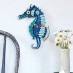 タツノオトシゴとヒトデの振り子時計 Salty Seahorse Clock 魚 掛け時計 P1468 アレン デザイン 振り子時計 Allen Designs
