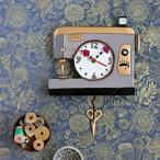 返し縫いミシン バックステッチ 送料無料 Allen Designs アレン デザイン 振り子時計 BACK STITCH PENDULUM ミシン はさみ ステッチ 置き時計 掛け時計 P1666