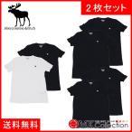 ショッピングAbercrombie アバクロ Tシャツ メンズ 2枚セット Abercrombie & Fitch クルーネック お買い得 ホワイト ブラック 無地