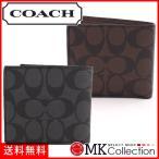 コーチ 二つ折り財布 メンズ レディース COACH Wallet シグネチャー スモール F75006