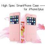 iPhone7 Plus ケース 窓付き 手帳型 iPhone 7 plus ケース アイフォン7プラス カバーレザー カード収納可 耐衝撃 おしゃれ シンプル 女性 かわいい