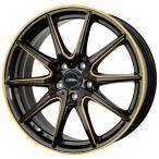 【送料無料】 215/45R17 軽量 クロススピード プレミアム RS10 ブラック+ゴールド 【サマータイヤ ホイールセット】