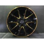 【送料無料】 235/55R18 軽量 クロススピード プレミアム RS10 ブラック+ゴールド 【タイヤ ホイールセット】