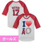お取り寄せ MLB エンゼルス 大谷翔平 エモジ ラグラン Tシャツ ガールズ