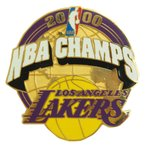 レイカーズ チャンピオン 2000 記念 ピンバッジ  NBA