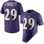 お取り寄せ NFL レイブンズ ジャスティン・フォーセット プレイヤー ネーム&ナンバー Tシャツ ナイキ/Nike