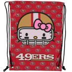 ショッピングforever お取り寄せ NFL 49ers ハローキティ ドローストリング ナップサック