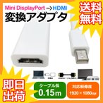 Mini DisplayPort - HDMI 変換ケーブル miniDP to 変換アダプタ Thunderbolt Port - HDMI アップル apple Mac用 MacBook Pro MacBook Air Macmini iMac MacPro