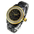 訳あり アンクラーク ANNE CLARK レディース 腕時計 ブラックセラミック AU-1028-03BCG サイズ調整無料