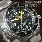 セイコー5 スポーツ 海外モデル 逆輸入 ダイバーズ ブラックアトラス SEIKO 腕時計 メンズ ブラック文字盤 ステンレスベルト SKZ211K1 サイズ調整無料