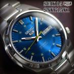 セイコー5 逆輸入 海外モデル SEIKO5 腕時計 メンズ ブルー文字盤 ステンレスベルト SNK615K1 サイズ調整無料
